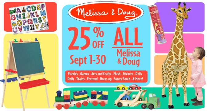 25% OFF Melissa and Doug