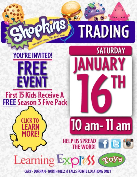 SHOPKINS JAN EVENT